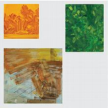 Marco De Marco (1918-2015) A Group of Three Landscape Studies, Oil on canvas,