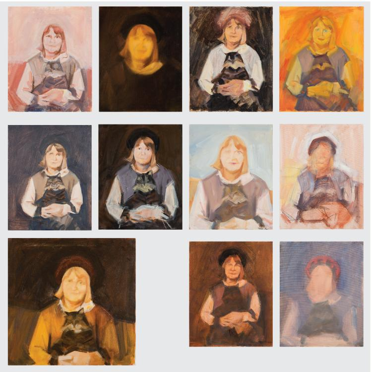 Marco De Marco (1918-2015) A Group of Eleven Studies Depicting Wilma de Marco, Oil on canvas, one on board,