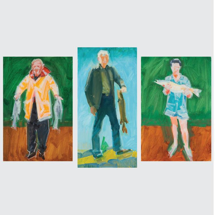 Marco De Marco (1918-2015) A Group of Three Studies Depicting Fishermen, Oil on canvas,