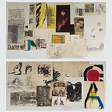 Marco De Marco (1918-2015) A Collection of Studies on Paper, Watercolor, ink and graphite.