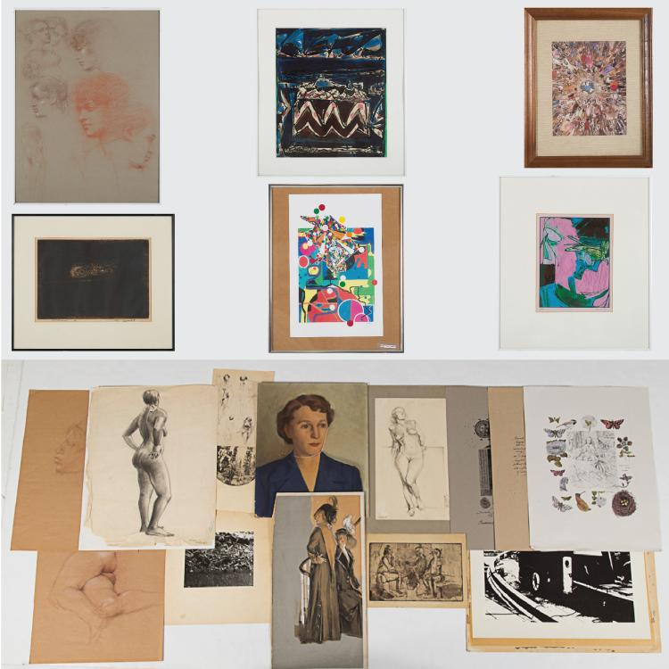 A Miscellaneous Collection of Drawings and Prints by Various Artists, 20th Century,