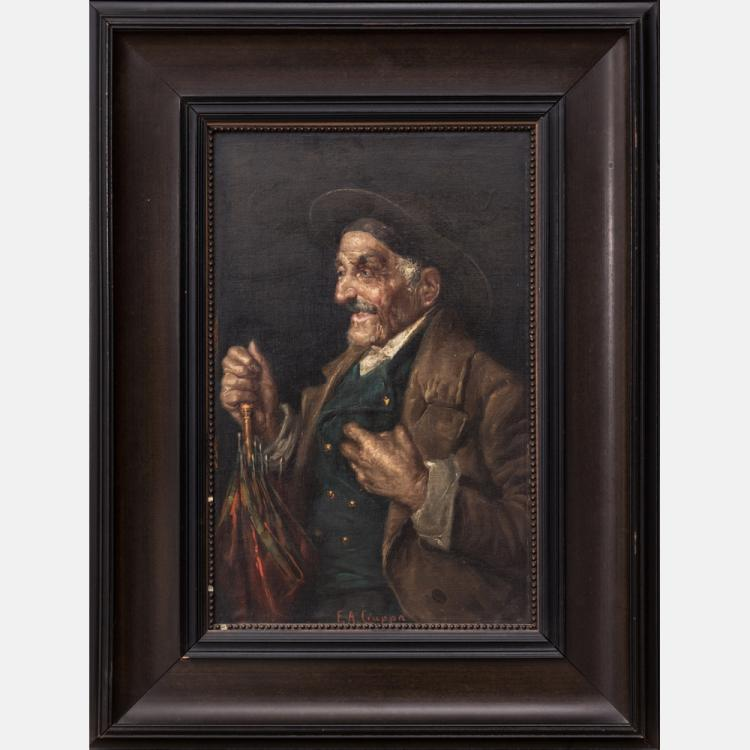 Federico Alessandro Ciappa (1766-c.1826) Portrait of a Man, Oil on canvas,
