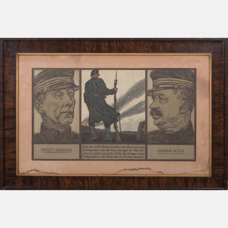 Eduard Renggli (1863-1921) WWI Propaganda Poster, 1914, Lithograph,