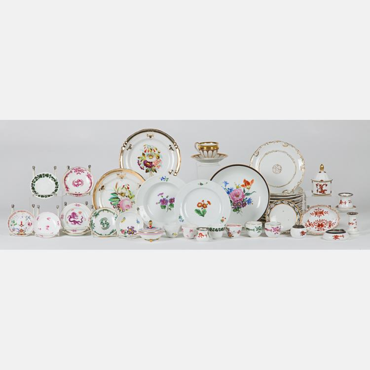 A Miscellaneous Collection of Porcelain Serving and Decorative Items by Various Makers, 20th Century,