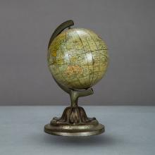 A Rand McNally 3-inch Terrestrial Globe by Rand McNally & Co., Chicago IL, ca. 1891,