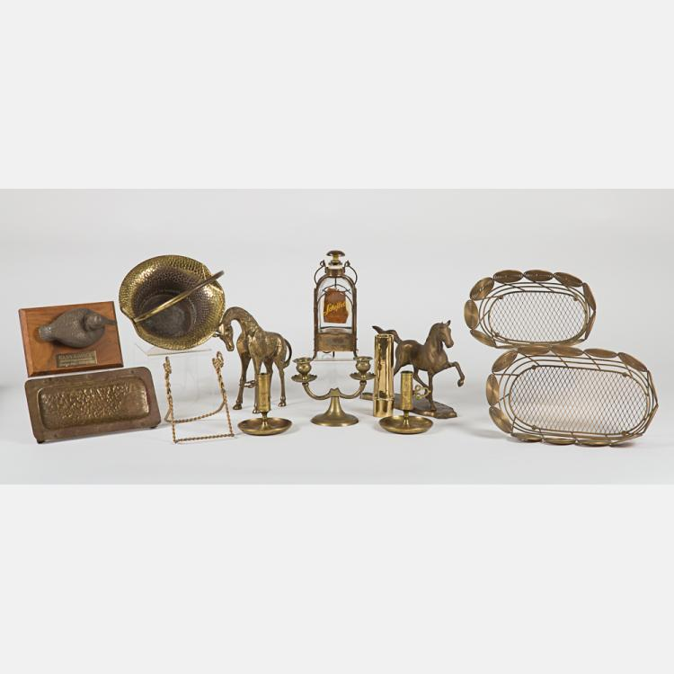 A Miscellaneous Collection of Copper and Brass Ware by Various Makers, 20th Century,