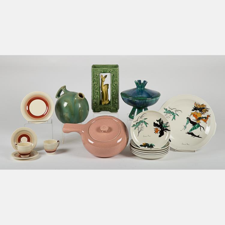 A Group of Mid-Century Modern Ceramic Items, 20th Century,