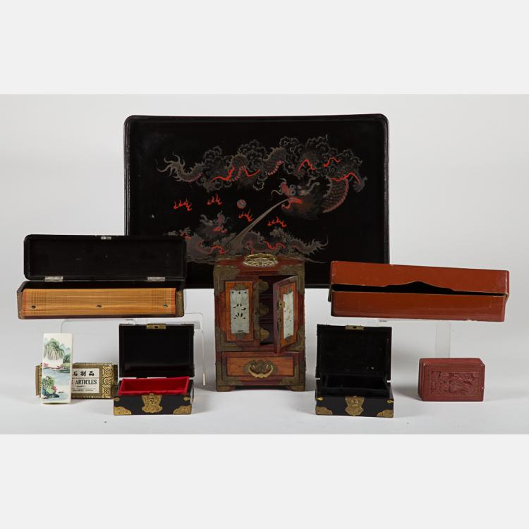 A Miscellaneous Collection of Asian Boxes, 20th Century,