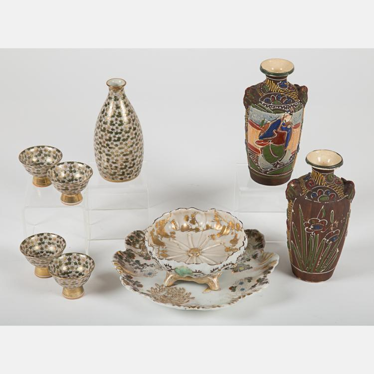 A Miscellaneous Collection of Japanese Satsuma Ware, 20th Century.