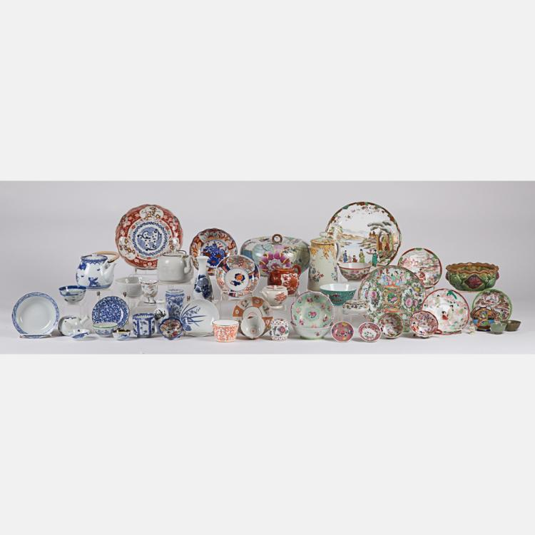 A Miscellaneous Collection of Asian Porcelain Decorative and Serving Items, 19th/20th Century.
