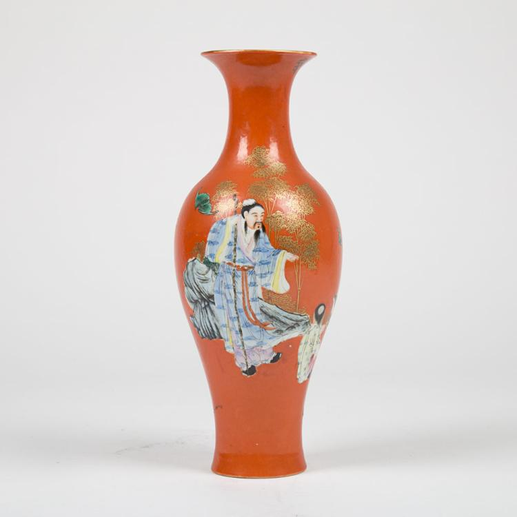 A Chinese Porcelain Vase, Republican Period Mark,