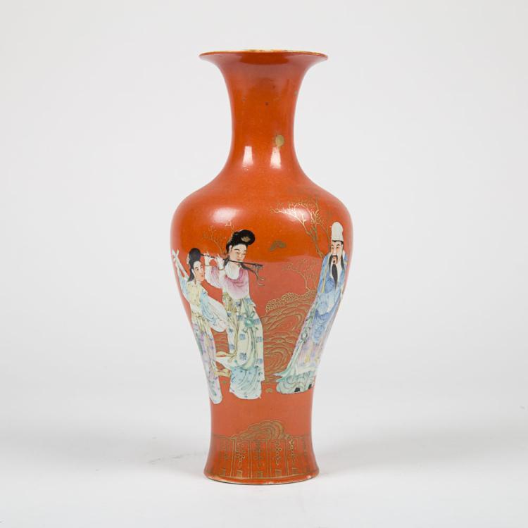 A Chinese Porcelain Vase, Juren Tang Zhi Mark,