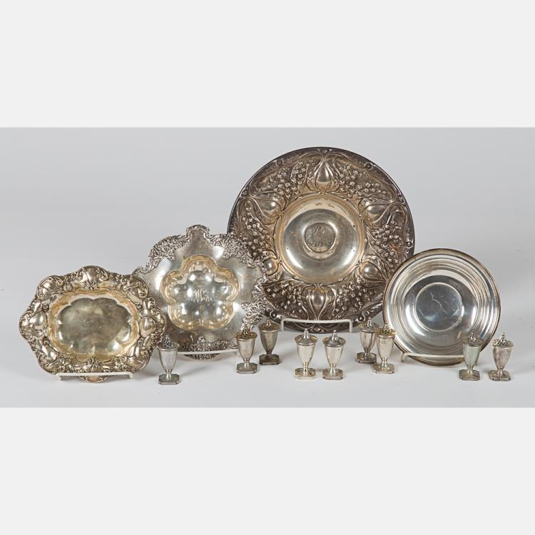 A Miscellaneous Collection of American Sterling Silver Serving Items, 20th Century.