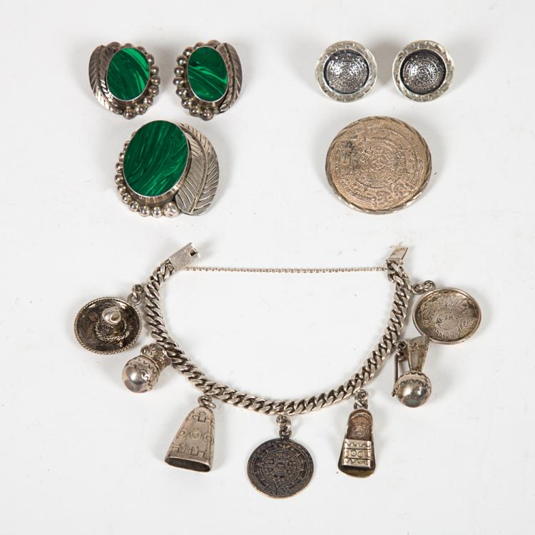 A Group of Mexican Sterling Silver Jewelry,