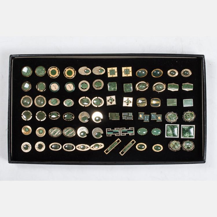 A Miscellaneous Collection of Thirty-Six Pairs of Vintage Cufflinks by Various Makers, 20th Century,