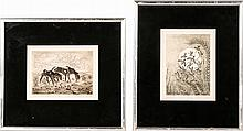 Woody Crumbo (1912-1989) Two Works, Etchings,