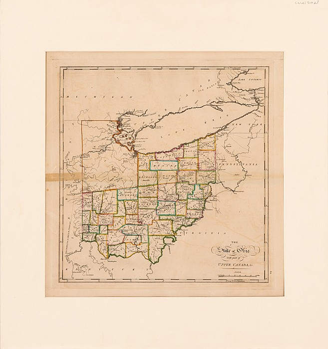 Carey, Mathew (1760-1839). The State of Ohio with Part of Upper Canada, &c., ca. 1818,