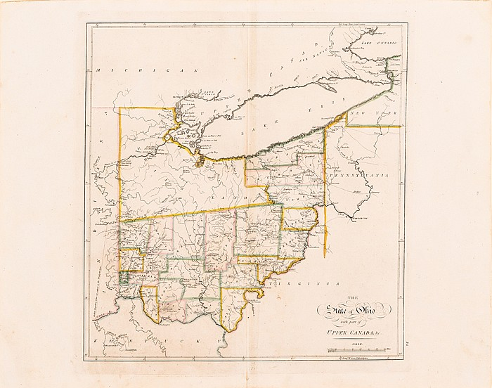 Carey, Mathew (1760-1839). The State of Ohio with Part of Upper Canada, &c., ca. 1814,