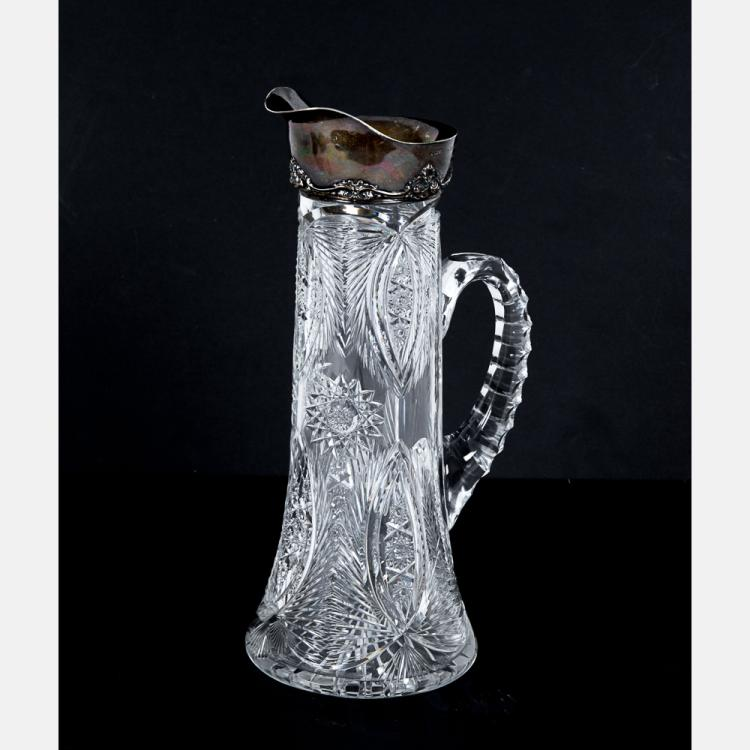 An american brilliant cut glass and gorham sterling silver p How can i cut glass at home