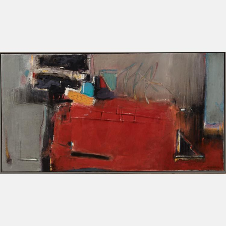 Anton Weiss (20th Century) Untitled, Oil on canvas,