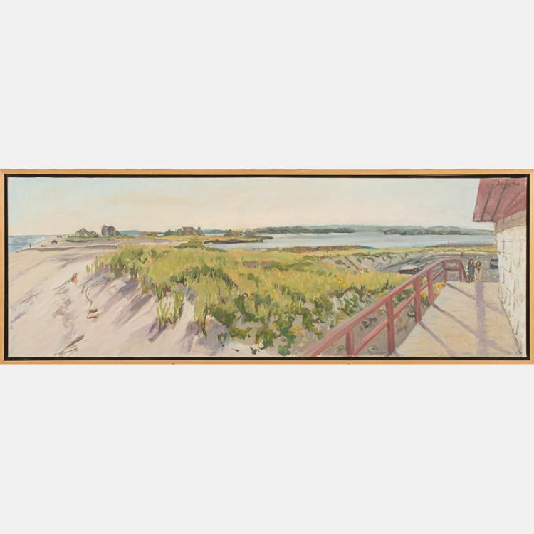 Darragh Park (20th Century) Cameron Dusk I, Oil on canvas,