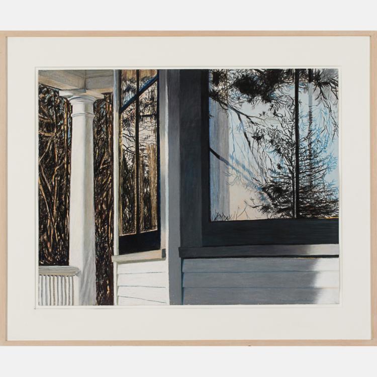 Alice Dalton Brown (b. 1939) Sherry's Window, 1987, Pastel on paper,