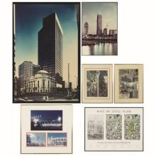 A Group of Six Colored Photographs and Prints Pertaining to Cleveland, Ohio by Various Artists, 20th Century.