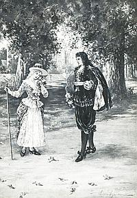 William St. John Harper (1851-1910) The Courtship, Pastel on paper,
