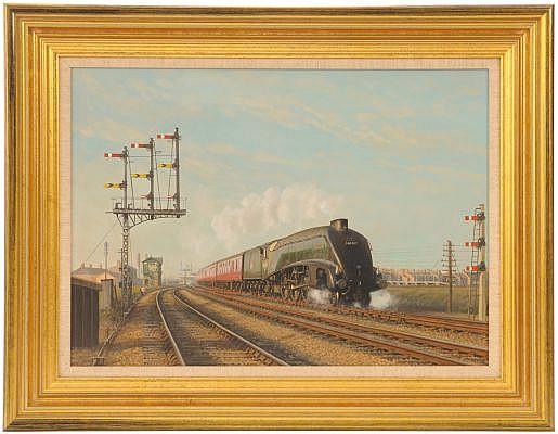 Railwayana : An original oil painting, A4 AT