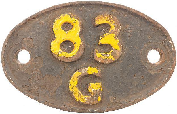 Railwayana : A shedplate 83G Penzance (1949 to