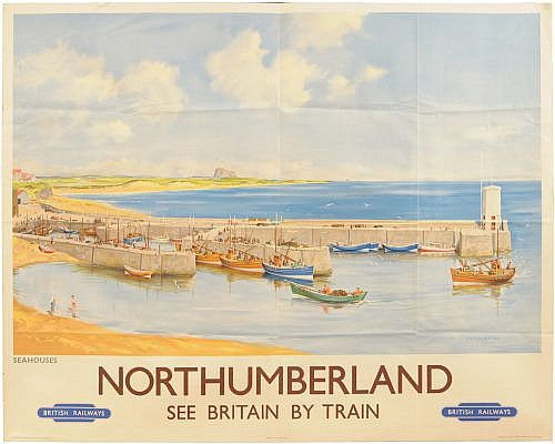 Railwayana : A BR(NE) quad royal poster,