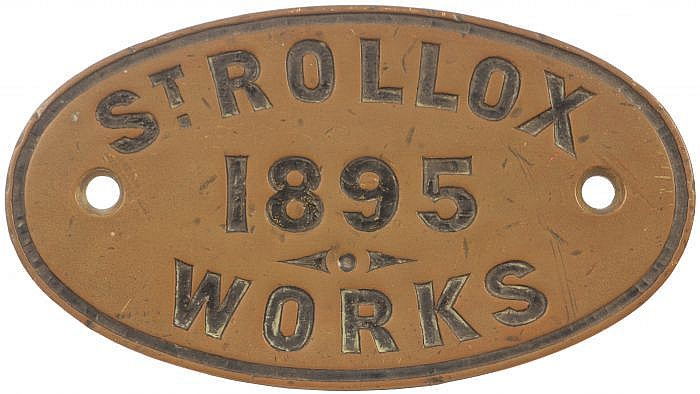 Railwayana : A worksplate, ST ROLLOX WORKS, 1895,