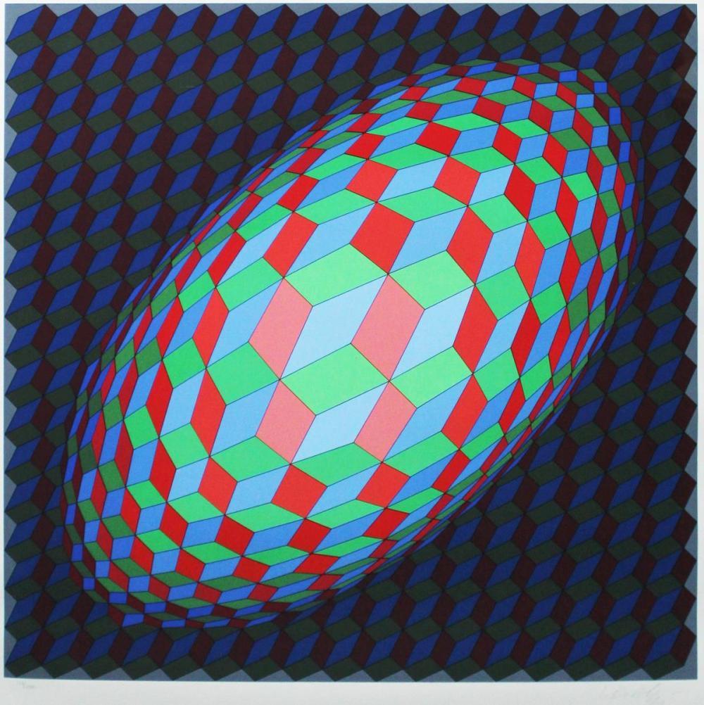 Victor Vasarely - Omega V