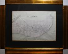 Atlantic City Original Map Engraving