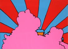 Peter Max - House in the Clouds