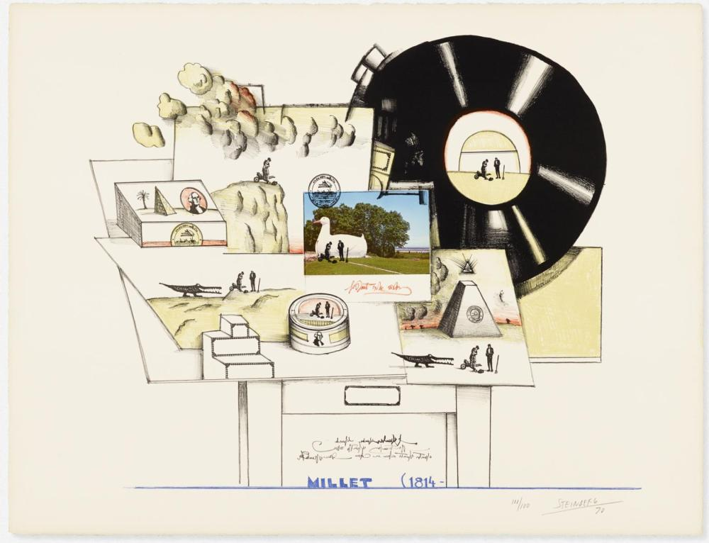 Saul Steinberg - Braque Millet (from Six Drawing Table)