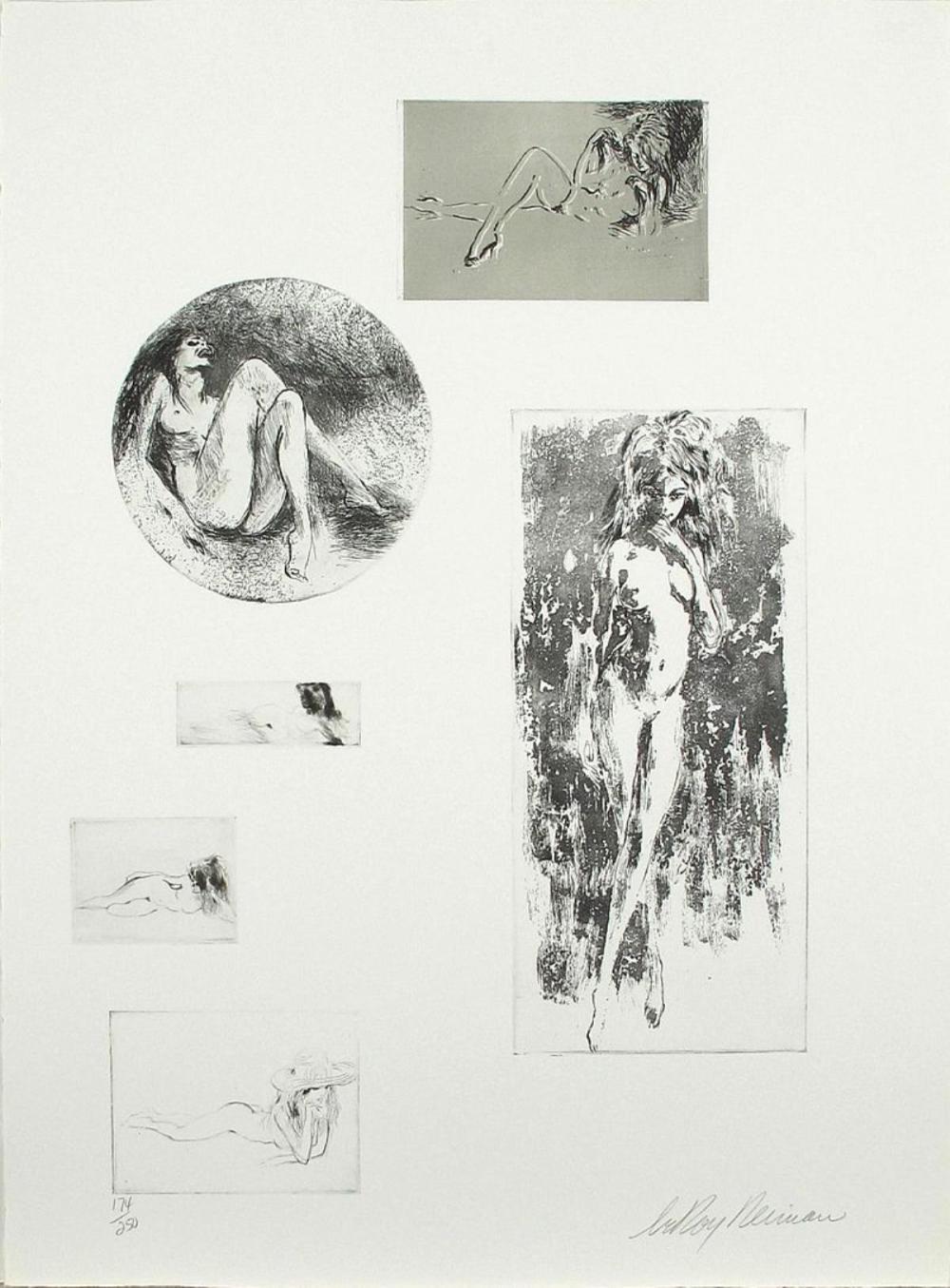 LeRoy Neiman - Six Nudes