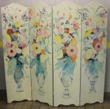 Charles Levier four panel screen