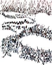 "Maria Elen Vieira da Silva, ""L'Exode"" Orig. Lithograph"