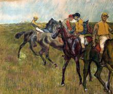 Edgar Degas - Avant le course