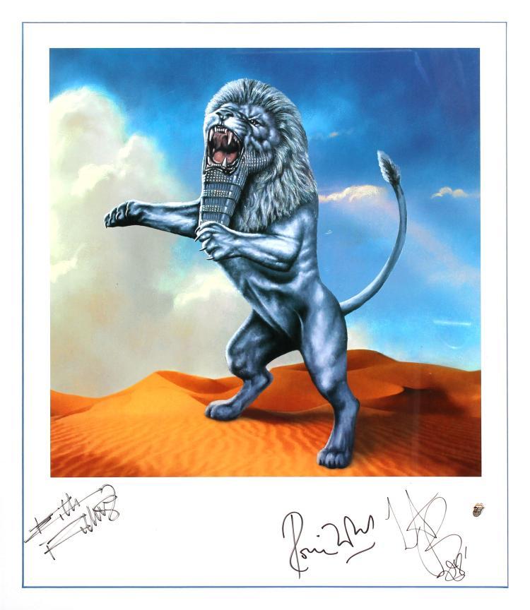 The Rolling Stones - Bridges to Babylon Hand Signed
