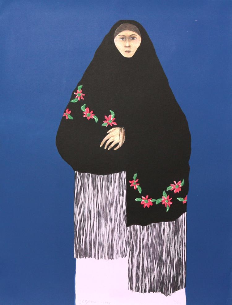RC Gorman - Taos Pueblo Woman