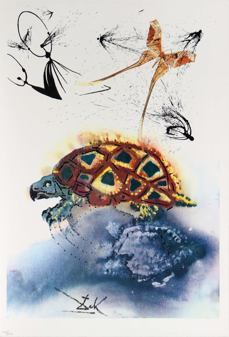 The Mock Turtle's Story by Salvador Dali