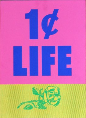 Cover from One Cent Life by Roy Lichtenstein