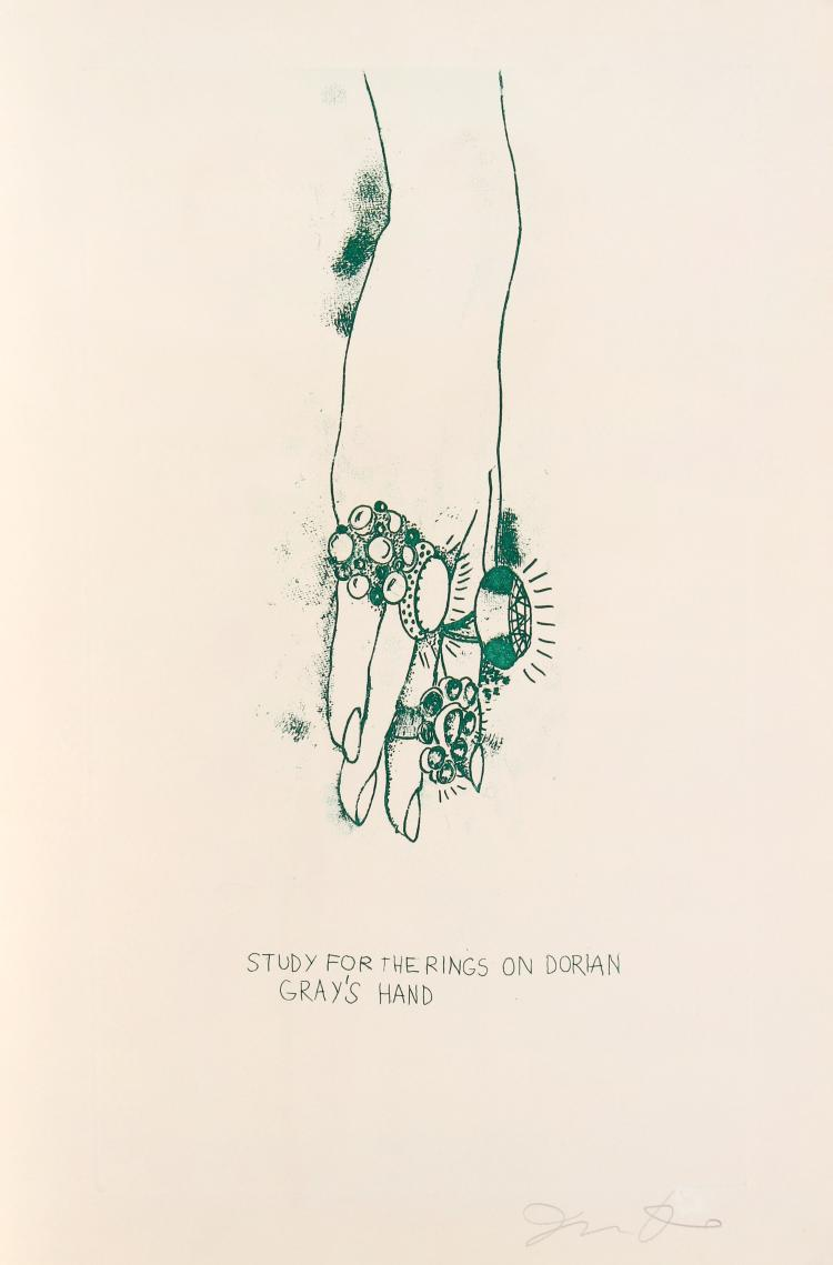 Jim Dine - Study for the Rings on Dorian Gray's Hand