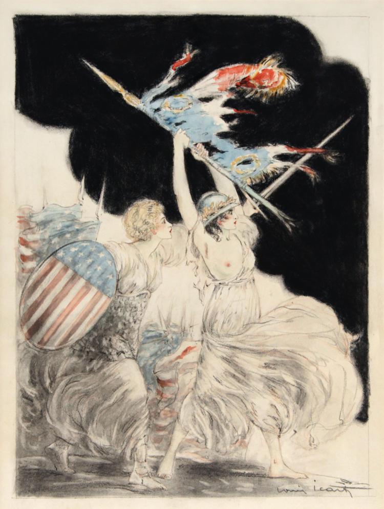 Louis Icart - Courage My Legion Original Artwork