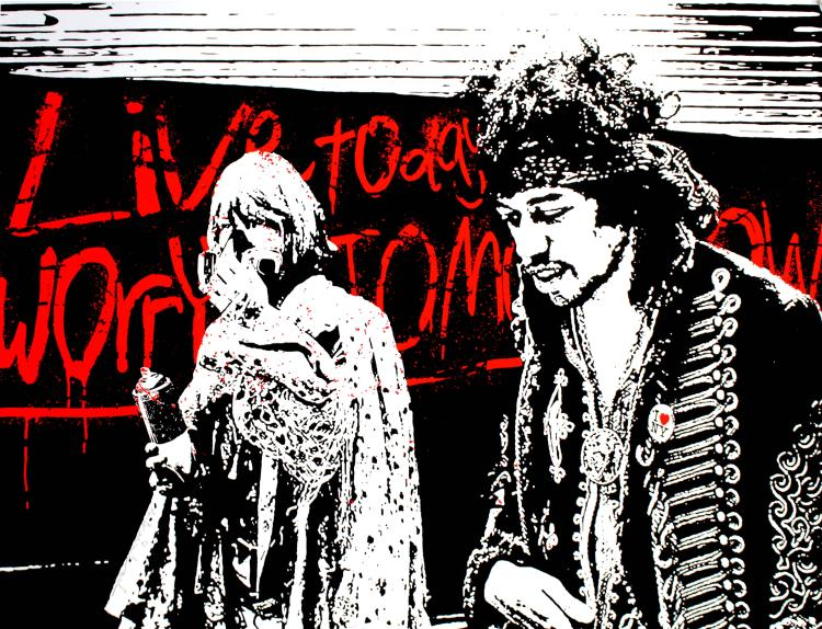 Mr. Brainwash - Live Today Worry Tomorrow