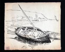 Ludovic-Rodo Pissarro - Untitled Boat Sketch
