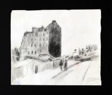 Ludovic-Rodo Pissarro - Untitled Landscape Sketch