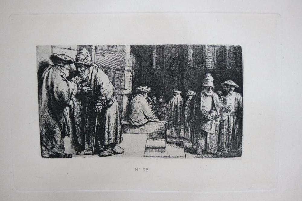 Rembrandt van Rijn (after) - Jews In The Synagogue